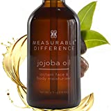 Measurable Difference Jojoba Oil for Skin Cold Pressed Refined - Hydrating Face Oil for All Skin Types - Brightening Moisturizing Jojoba Essential Oil for Face and Body - 4oz