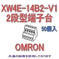 オムロン(OMRON) XW4E-14B2-V1 (50個入) プリント基板用端子台 2段型端子台 7極 (端子ピッチ3.81mm) NN