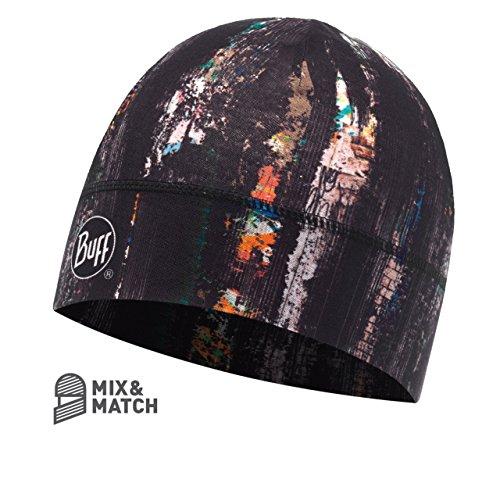 Buff Erwachsene Microfiber 1 Layer Hat Mütze, Graffiti Black, One Size