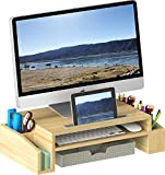 SimpleHouseware Desk Monitor Stand Riser with Adjustable Organizer Tray...