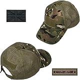 Xidan CFL Gorra Sombrero para Sol de Malla T/áctica de Deporte B/éisbol Camuflaje Militar para Hombres con USA Parche de Bandera//Parche de Palabras