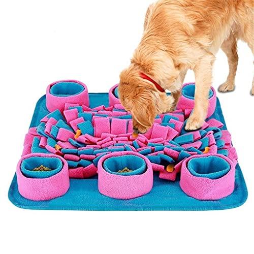 SJYDQ Dispensador interactivo de comida para mascotas con rompecabezas para perros, juguete con espalda antideslizante, juguetes para cachorros de alimentación lenta, juego para aumentar el coeficient
