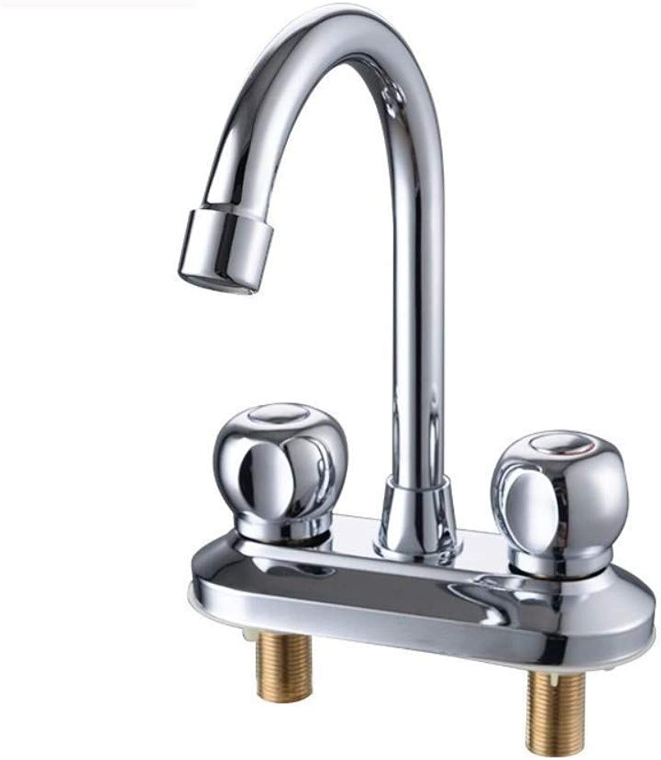 Water Tap Washbasin Double Bathroom Double Hole Hot and Cold Water Faucet Hand Wash Basin Three Hole Faucet Home Vintage Kitchen