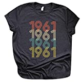 1971 Vintage Shirts 50th Birthday Gifts for Women Funny Graphic Print T-Shirts Retro Party Tee Tops Casual Blouse
