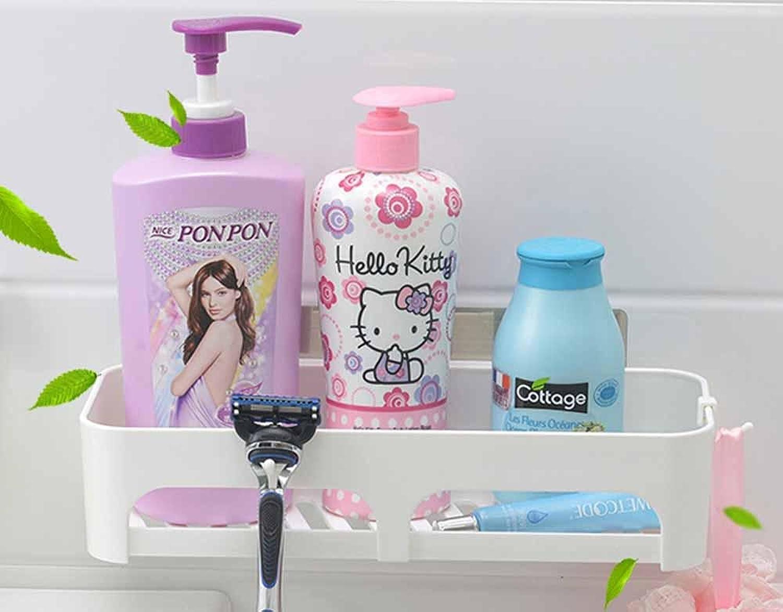 KHSKX Sucker for fashion bathroom shelves, bathroom wall mounted bathroom storage rack, WC perforated shelf