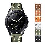 Bandas de Reloj de Repuesto compatibles con Samsung Galaxy Watch 42mm/46mm,Active 2,Samsung Gear S3 Classic/Frontier Smartwatch X línea Gruesa Correa de Reloj de Cuero Flexible de Aceite (20mm/22mm)