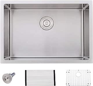 VOKIM 26-inch Undermount 16 Gauge Tight Radius Stainless Steel Kitchen Sink Single Bowl,Bar or Prep Kitchen sink
