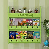 YJXTYP Estantería para Niños Colgada De La Pared Estantería De Tres Niveles Simple Libro De Libros De Libros De Libros De Estanterías De Libros Estante para Libros (Color : Green)
