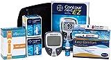 Contour Next Diabetes Testing Kit - Contour Next Ez Meter, 100 Bayer Contour Next Test Strips, 100 30g Slight Touch Lancets, 1 Lancing Device, Control Solution, 100 Alcohol Prep Pads
