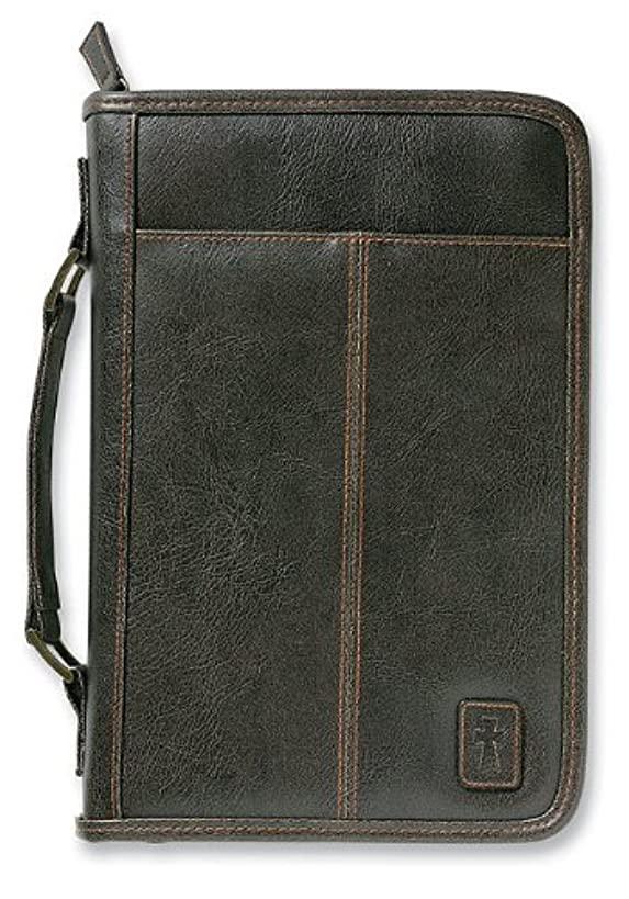 Aviator Leather-Look Brown Extra Large Book and Bible Cover