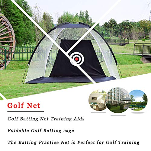 WUTONG Golf Batting Net Training Aids Foldable Golf Batting cage Indoor and...