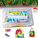 INST Color Fast Tie Dye Kit for Girls Kids & Adults Storage Box DIY 26 Colors Dye Kit Permanent, Include Rubber Bands, Gloves, Apron and Table Covers for Festivals, Kids Party, DIY Group Party
