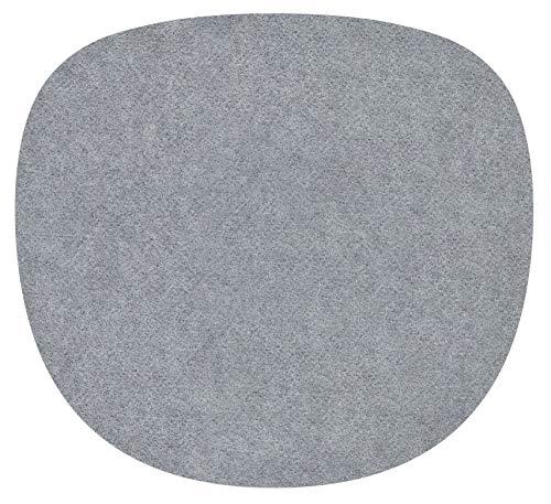 Feltd. Eco Filz Auflage 4mm Simple - geeignet für Sidechair // - 30 Farben inkl. Antirutschunterlage (grau)