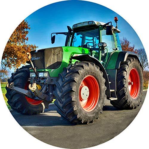 Essbarer Tortenaufleger Traktor // Tortendekoration Bauernhof, Trecker // 20cm (Oblatenpapier)