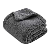 CHEE RAY Extra Thick Washable Snugly Sherpa Fleece Dog Blanket and Cat...