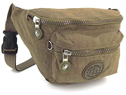 - Leichte Hüfttasche Gürteltasche für Damen und Herren geeignet für Sport Camping Wandern Fitness Fahrrad Reisen, Wasserabweisend (Stone)