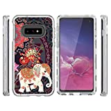 Galaxy S10E Case Clear, 3 in 1 Luxury Hybrid Rugged Heavy Duty Shock Absorption Drop Resistant Armor Tri-Layers Shockproof Soft TPU Bumper PC Shell Painting Cover for Samsung Galaxy S10E - Elephant