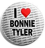 Photo de Grand badge à épingle « I Love Bonnie Tyler » 75 mm – Cadeau – Anniversaire – Noël