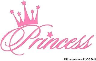 UR Impressions Pnk Princess Crown Decal Vinyl Sticker Graphics for Cars Trucks SUV Vans Walls Windows Laptop|Pink|5.6 X 3.6 Inch|URI281