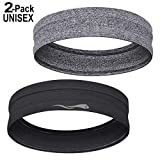 LUCKYGO Sweatbands Women Men│Super Absorbent Sweat Bands Headbands Nonslip Grip│Stretchy Soft Athletic Head Bands Workout Sports Fitness Exercise Tennis Basketball Running Gym Yoga Outside