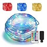 66ft Led Rope Lights Outdoor String Lights with 200 LEDs,16 Colors Changing...