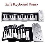 Healifty 48 Teclas Roll up Piano Portátil Recargable Electrónico Hand Roll Piano con Teclado de Piano de Silicona
