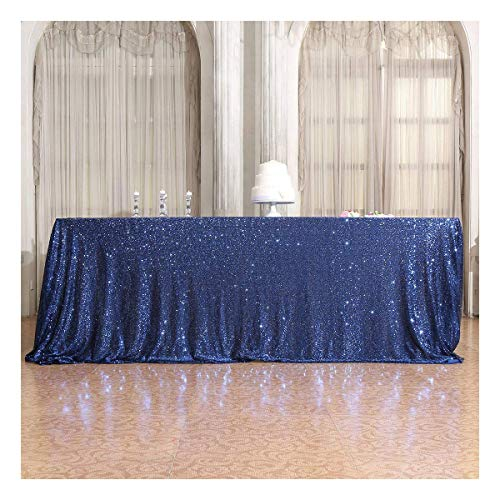 Poise3EHome 50×72'' Rectangle Sequin Tablecloth for Party Cake Dessert Table Exhibition Events, Lavender