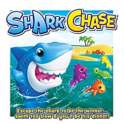 Escape the shark to be the winner. The winner is the player with the most points after three rounds. Get ready to roll the dice and quickly move your sea creatures to escape the shark. Don't get left behind or you risk getting eaten by the hungry sha...