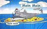 U24 Fahne Flagge Moin Moin Robben auf der Sandbank 90 x 150 cm