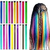 ColorfulPanda 20 Piezas Extensión de cabello de color, 20 colors postizos para niñas Princess...