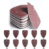 YPSNH 80 Hojas de Lija para Ratón,5 Agujeros,Papel de lija para li Jadora,Varios Granos 40 60 80 100 120 180 240 320 400 800