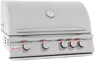 Blaze LTE 32-Inch 4-Burner Built-In Natural Or Propane Gas Grill With Rear Infrared Burner & Grill Lights - BLZ-4LTE-NG Or BLZ-4LTE-LP - With Free Grill Cover! (32