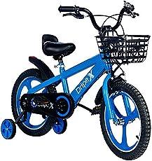 Kids Bike,Dripex Freestyle Boys Bike Kid's Bicycles Ages 5-9 BMX Bike 18 Inch with Training Wheels and Kickstand Blue