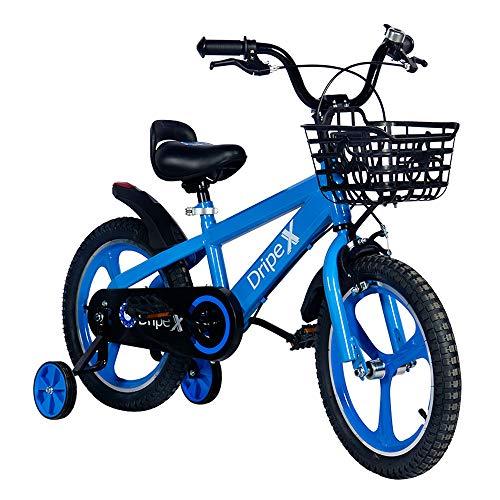 Kids Bike,Dripex Freestyle Boys Bike Kid's Bicycles Ages 4-8 BMX Bike 16 Inch with Training Wheels and Kickstand Blue
