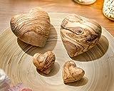 NATUREHOME Herz aus Olivenholz – Holz Handschmeichler Glücksbringer ideal als Geschenk zur Hochzeit Taufe Geburt Geburtstag oder als Schutzengel Anti-Stress Holzherz Deko (5 cm) - 7