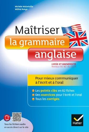 Maitriser la grammaire anglaise by M Malavieille(2013-06-16)