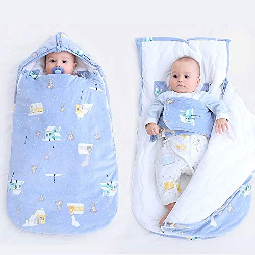 スリーパー 赤ちゃん 寝袋 ベビー寝袋 おくるみ 新生児 带防風帽 綿100% おむつの交換が便利です 滑り止め 夜泣き対策に 睡眠を改善する 出産準備 出産祝い 退院 男の子 女の子 人気 0-3歳【ZSZY】