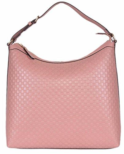 Gucci Damen Micro GG Guccissima Leder Hobo Handtasche (449732/Soft Pink)