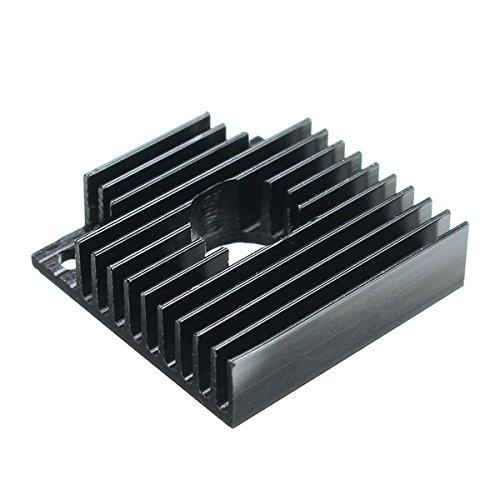 ILS 5 stuks aluminium koellichaam 40 * 40 * 11 mm voor 3D-printer MK7 MK8 extruder