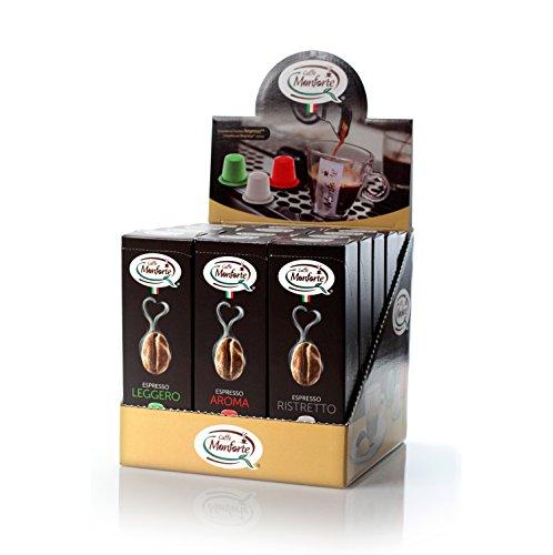 Caffè Monforte Kapselspenderbox 15x10 Kapseln, geeignet für Nespressomaschinen, 1er Pack (1 x 750 g)