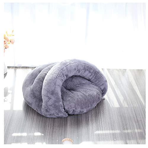 ZFFLYH Cat Cave Bed, winterwarme katjes puppy slaapzak zacht honden nest kenel mat kussen voor kleine en middelgrote katten en honden