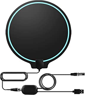[Upgraded 2019] Cinati TV Antenna, Amplified HD Digital TV Indoor Antenna Long 130 Miles Range, 4K 1080P HD VHF UHF for Local Channels, Strong Magic Stickers, Ultra Thin