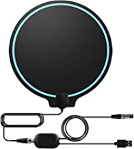 TV Antenna, Cinati 2019 Upgraded Amplified HD Digital TV Indoor Antenna Long 130 Miles Range, 4K 1080P HD VHF UHF for Local Channels, Strong Magic Stickers, Ultra Thin Antenna