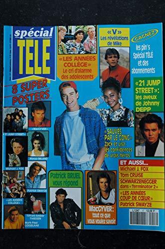 spécial TELE n° 17 1991 + 8 Posters Alyssa MILANO Patrick SWAYZE 21 JUMP STREET JOHNNY DEPP V TERMINATOR 2 SCHWARZENEGGER