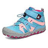 Mishansha Toddler Boy Girl High Top Hiking Shoes Kid Walking Running Outdoor Sneakers Lightweight Non-Skid Breathable Trekking Boot Blue and Pink 7.5 toddler
