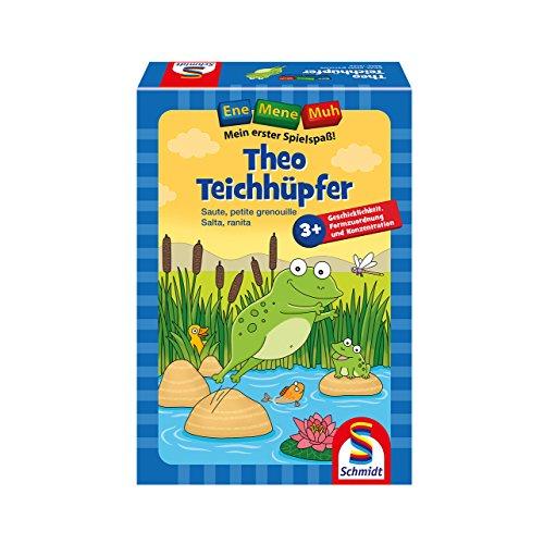 Schmidt Spiele 40549 Ene Mene MUH, Theo Teichhüpfer, Lernspiel, bunt