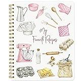Recipe Notebook Blank Cookbook Spiral Recipe...