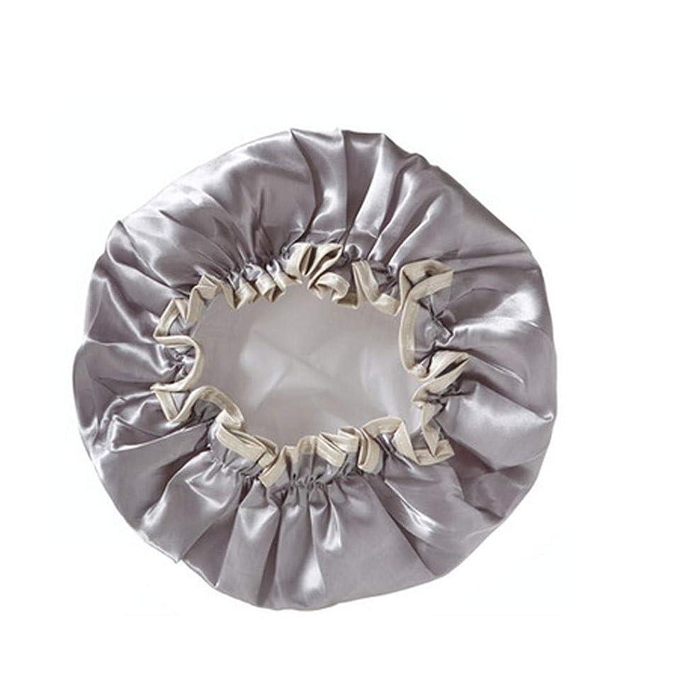主張するプレミアム管理者PFKE 防水やカビ耐性、再利用可能なシャワーキャップ - レディースキャップデラックスがキャップレディすべての髪の長さや太さをシャワーシャワー、キャップシャワー。 シンプルで実用的な製品 (Color : Gray)