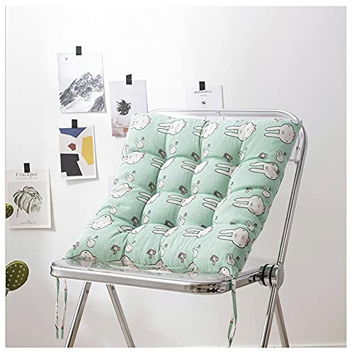 CGDX Cuscino per, Cuscino Sdraio Relax, Set di Cuscini per Sedia in Cotone 100% con Cinghie, Cuscino per Sedia da Giardino Morbido E Confortevole 40x40 Cm
