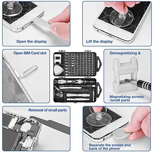 Hehsd0 Schraubenzieher Set Handy Reparatur Tablet Laptop Legierter Stahl Mini Armbanduhren Pflege Maschinenbau 122 IN 1 Handwerkzeuge Kamera Elektronik Tragbar Brille
